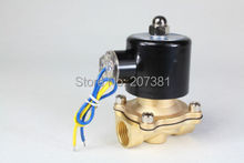 "Free Shipping 2way2position DC12V 1/2"" Electric Solenoid Valve Water Air N/C Gas Water Air 2W160-15(China (Mainland))"