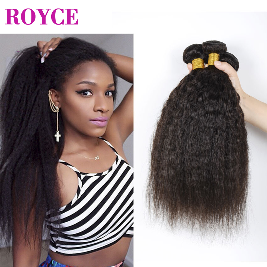 Peruvian Kinky Straight Hair Cheap Coarse Yaki Virgin Hair Bundles Italian Kinky Straight Virgin Human Hair Weave Bundles 3Pcs