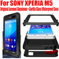 For SONY XPERIA M5 Original Lovemei Aluminum Gorilla Glass Shock Drop Waterproof case for Sony M5