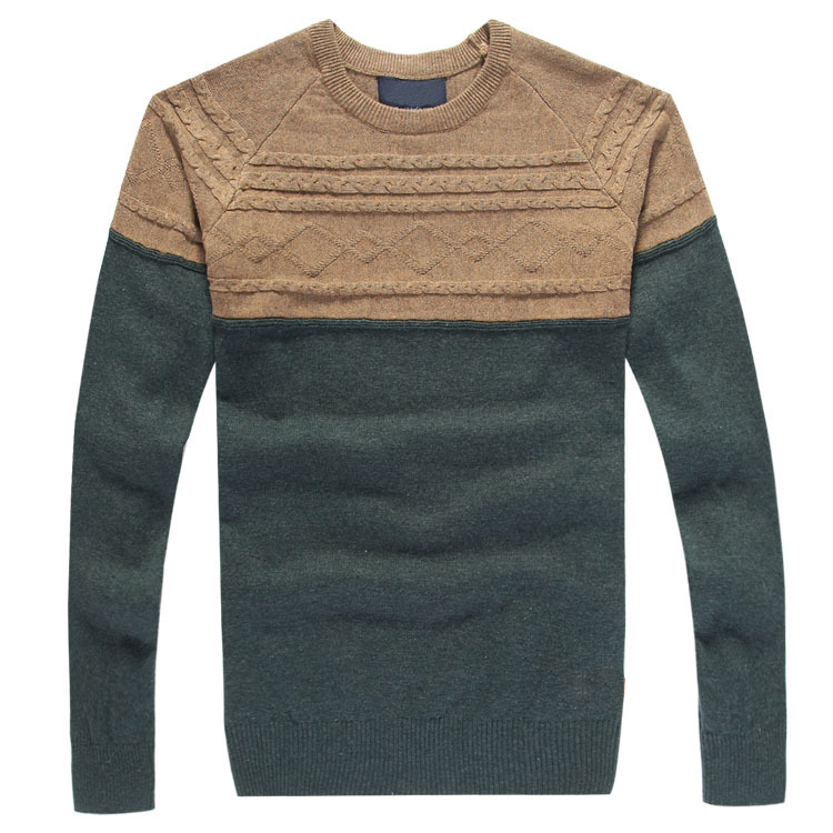 Hot New 2015 Pullovers Striped Sweater Men Autumn Winter Computer Jacquard Patchwork Sweaters For Men Casual O-Neck Knit Sweater(China (Mainland))
