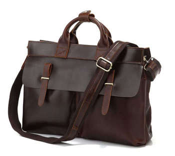 Maxwell High Quality Vintage Dark Brown Genuine Leather Men Briefcase Portfolio Messenger bags Shoulder bags #MW-J7107R