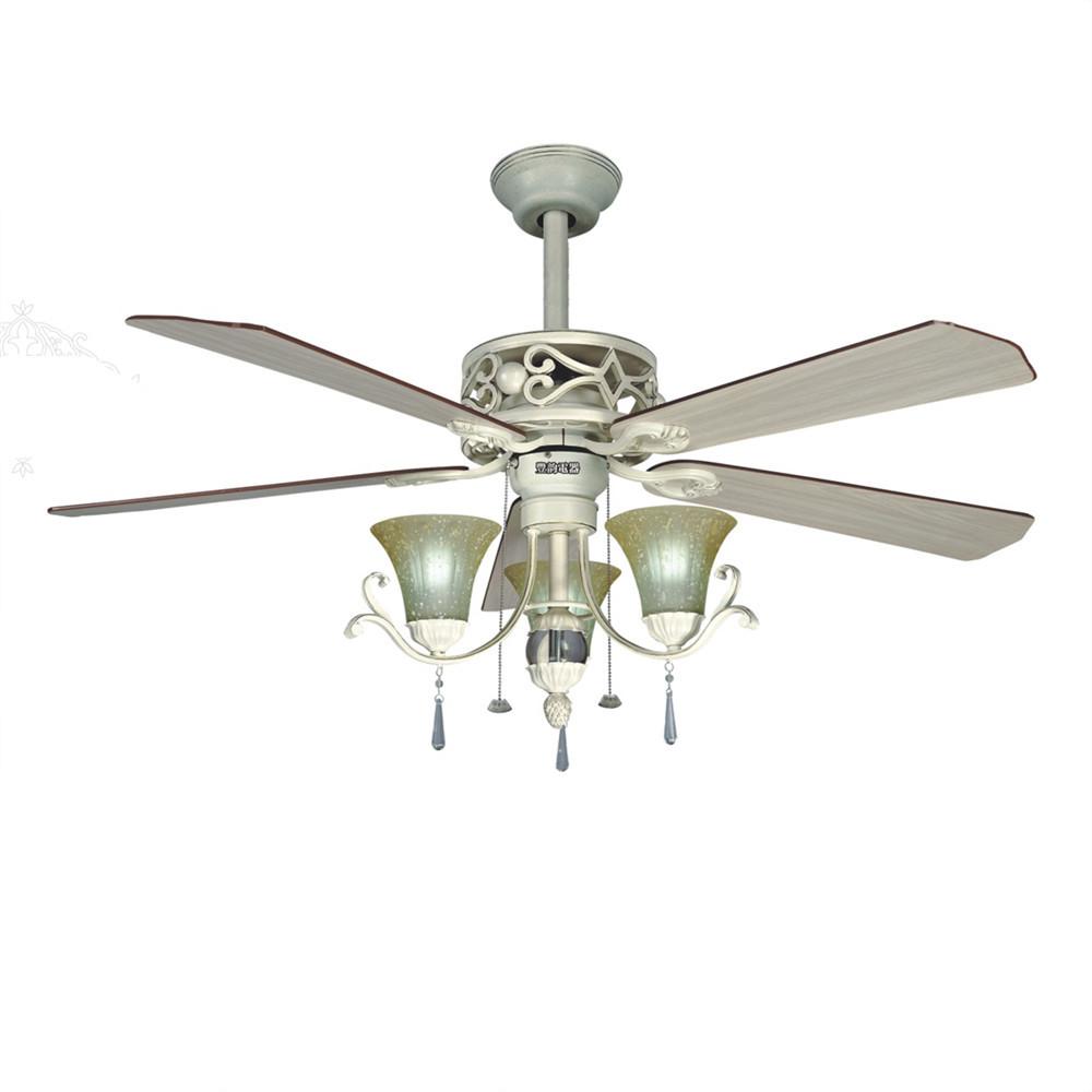 Continental Ceiling Fan Leaves Ceiling Fan Lamp Living