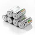 6pcs lot EBL 5000mAh Size C Batteries R14 Ni Mh Batteria 1 2v Rechargeable battery for