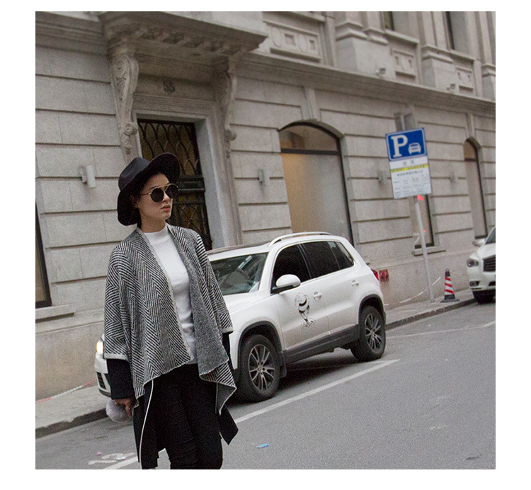 2016 new sweater knitted crocheted winter cool air-conditioned large shawl simple wild cloak