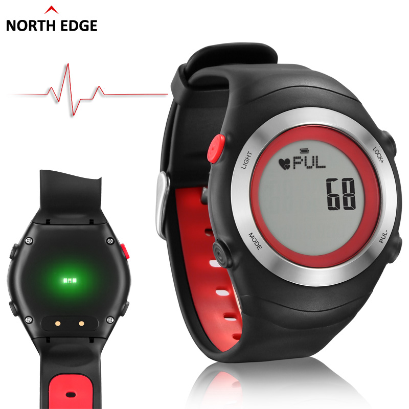 Hot!!! NORTH EDGE Heart Rate Monitor Pedometer Calories Men Sports Watches Digital Watch Running Hiking Wristwatch Montre Homme(China (Mainland))