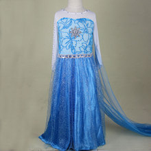Long girls dress,Kids baby girls Ice and snow princess Dress, girls casual dress,girls party dress,children clothing