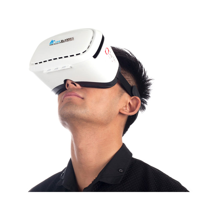 2015 biggest Aspheric lens Virtual Reality oculus rift 3D glasses plastic Google cardboard Head Mount VR smart 3d glass(China (Mainland))
