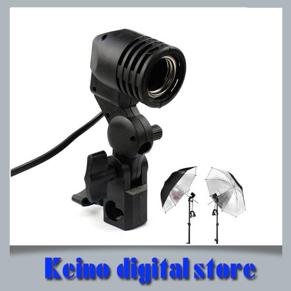 Single Lamp Bulb Holder E27 Socket Flash Umbrella Bracket Photo Studio Accessories(China (Mainland))