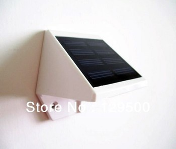 White color solar led wall lamps outdoor solar led lights waterproof for fence garden home