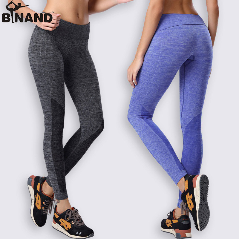 Yoga Pants Running Trousers Workout Clothes Sport Slim Fitness Sports Women Gym Lulu High Waist Clothing Leggings For Female(China (Mainland))