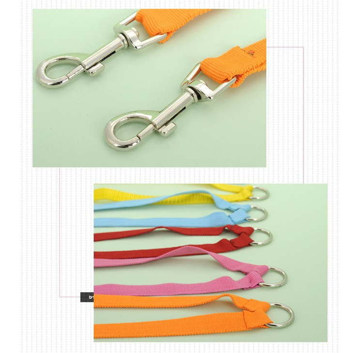 5 color New Double Multiple Dual Coupler 2 Way Two Pet Dogs Nylon Dog Pet Walking Leash Puppy Leads PG24 (12)