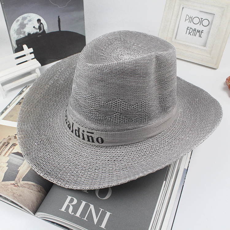 Fashion Western Cowboy Hats Wholesale Womens Mens Tourist Caps for Travel straw hat Outdoor Performance Hat(China (Mainland))