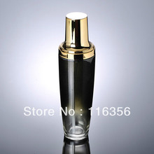 120ml black glass lotion bottle with gold pump for Cosmetic Packaging