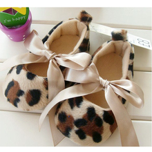 Wholesale Mary Jane  Leopard Print Toddler Baby Shoes Girls Soft Sole Bottom Kids Shoes First Walkers(China (Mainland))