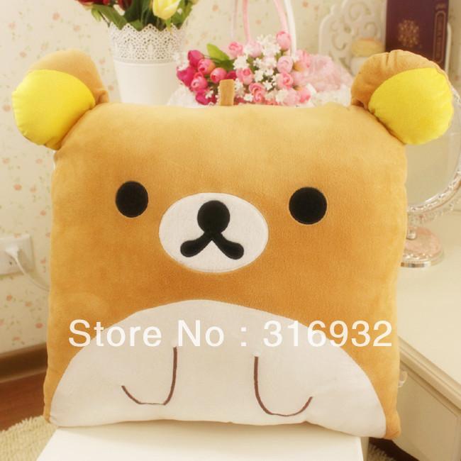 J2 New, Rilakkuma Square plush pillow cushion square pillow plush toy for gift(China (Mainland))