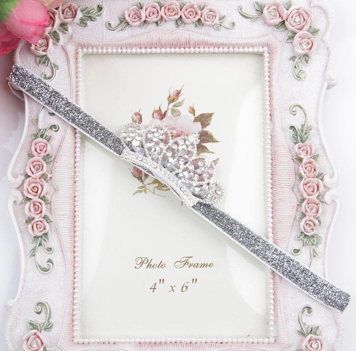 2 видов розничная младенческая Tollder кристалл повязка на голову горный хрусталь принцесса повязка на голову для ребенка девушки перл корона