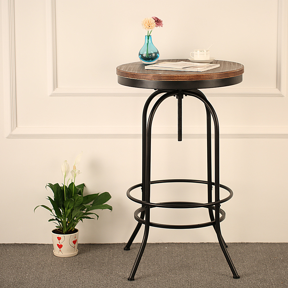 Bar Keuken Hoogte : Adjustable Height Round Bistro Table