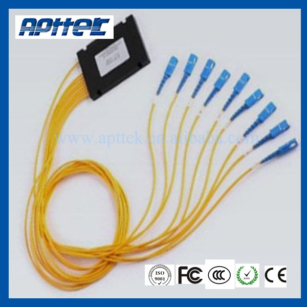 high quality 2 pcs 1*8 fiber optic splitter with chinese supplier LC interface(China (Mainland))