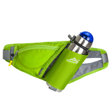 Colorful Outdoor sports Walking Running Cycling Waist Belt Packs waist bag with Water Bottle Holder for Smartphone key money