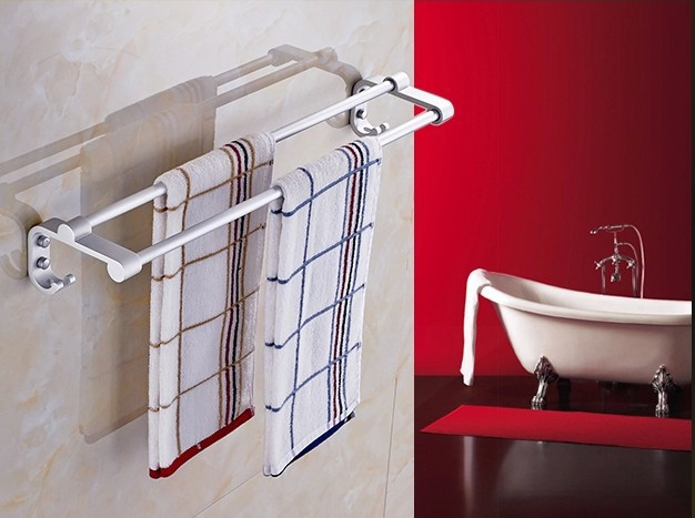 towel bar double towel rack thickening bathroom accessories towel