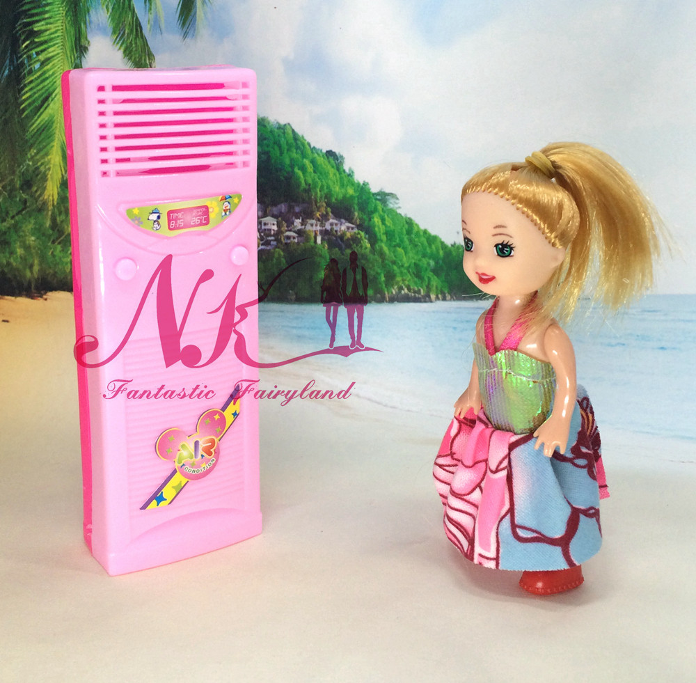 NK One Set Doll  Show Furnishings Family Home equipment Equipment For Barbie Dolls For Monster Excessive dolls Mini Air Conditioner