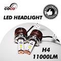 Pair Car ETI LED H4 9003 HB2 Hi Lo Beam Lamp White high power 90W Set