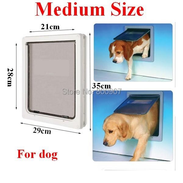 Wholesale Abs Plastic White Safe Pet Door For Large Medium Dog