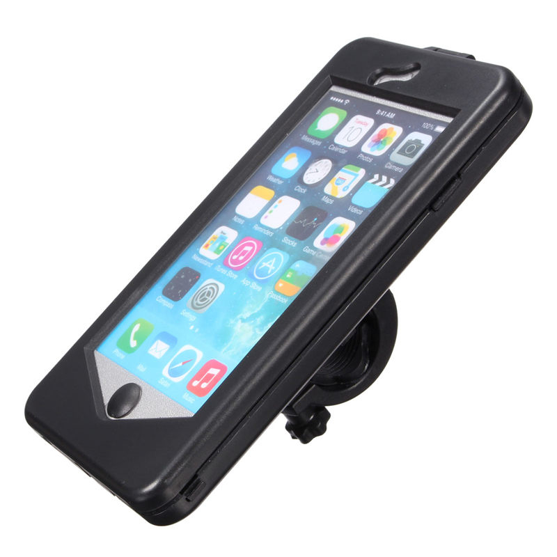 High Quality Motorcycle Bike Bicycle Waterproof HandleBar Holder Phone Case For iPhone6 4.7inch Mobile Phone Holder Bags Cases(China (Mainland))
