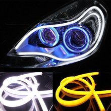 New 1PCS 85CM DRL Flexible LED Tube Strip Daytime Running Lights Turn Signal Angel Eyes Car Styling Parking Lamps(China (Mainland))