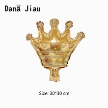 Dana jiau champagne wine cup Whiskey Bottle Balloon 30 years old Happy Birthday Party Decor Aged To Perfection gold king crown(China)