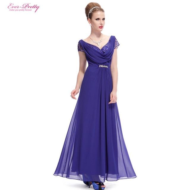 Элегантный длинные вечерние платья 2015 назад глубокий V синий формальные пром платье ...