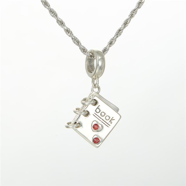 S925 стерлингового серебра Jewerly любовь книга с камнями бусины DIY стерлингов - серебристо-ювелирные подходит пандора Chamilia подвески браслеты