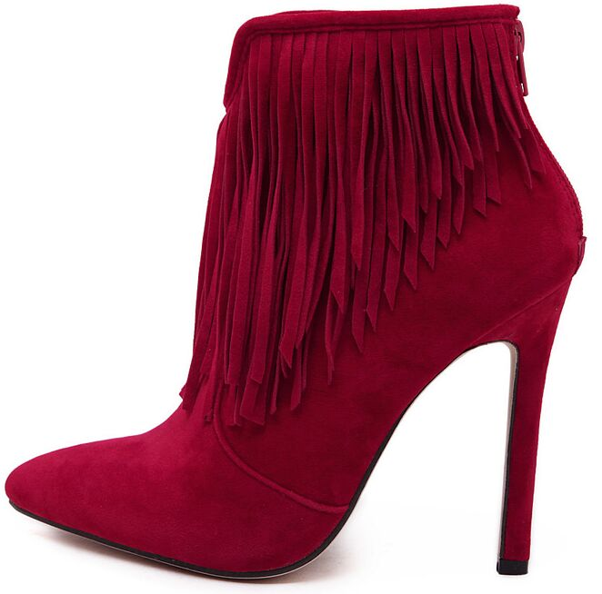 Size 4~9 Tassel Warm Winter Women Boots Fashion Sexy Red Women Shoes Boots botas mujer<br><br>Aliexpress