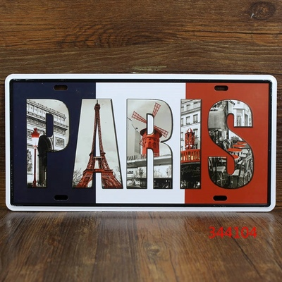 Retro Bar Cafe metal plates to decorative wall painting home decorative wall stickers car sticker Creative Crafts 16 * 30CM6028(China (Mainland))