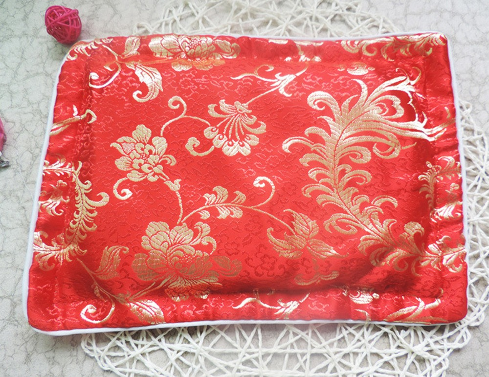 Silk Feeling Nature Bedding Pillowcase Baby Red Silk Pillow Shaping Pillow Filled With Silkworm Sand Or Buckwheat(China (Mainland))