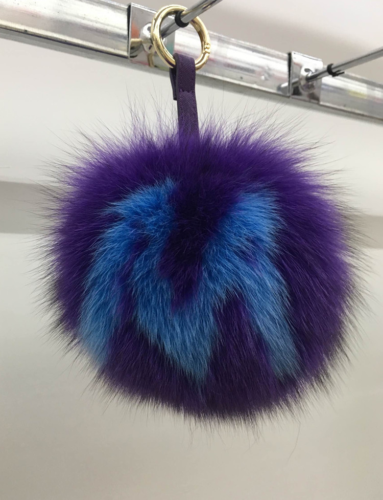 Пользовательские начальная pom pom брелки ручной 15 см натурального меха фокс мяч брелки сумка шарм pluffy сумка ошибка заглавная буква с логотип