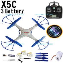 3 Batteries Upgrade blue Syma X5C 2.4Ghz 6-Axis Gyro RC Quadcopter Drone W/ 2MP HD Camera RTF