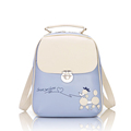 Fashion New Fresh Style Cute Cartoon Backpack Women Sweet Style Designer Push Lock Zipper Bag Lovely