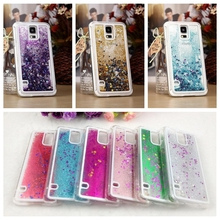 Bling Stars IN Water Liquid Glitter Fluorescent Quicksand Case Cover for Samsung Galaxy S5 G900F S5 NEO G903F S6 S6edge S7 EDGE(China (Mainland))