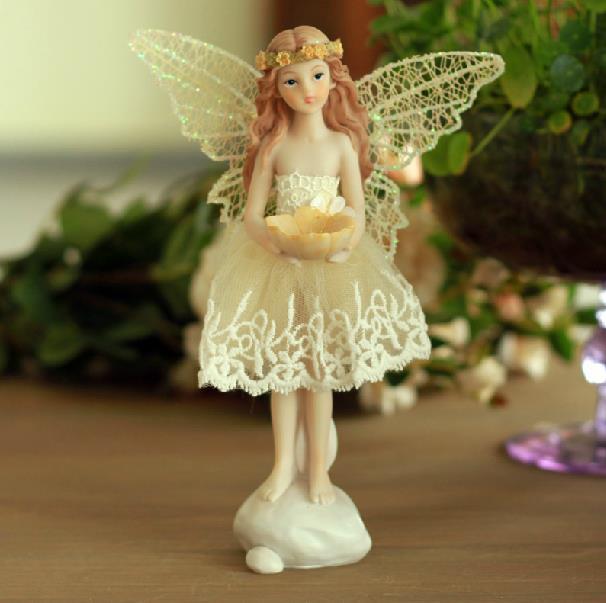 New Arrival Unique Home Decor Resin Handicrafts Wedding Decorations Angel Figurine(China (Mainland))