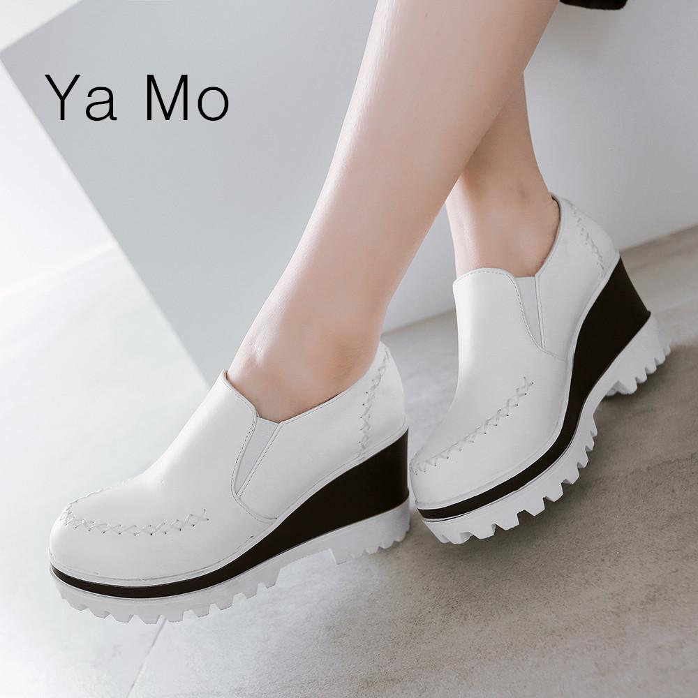 New 2016 women wedge heels shoes spring summer high heels girls shoes casual platform shoes woman heels<br><br>Aliexpress