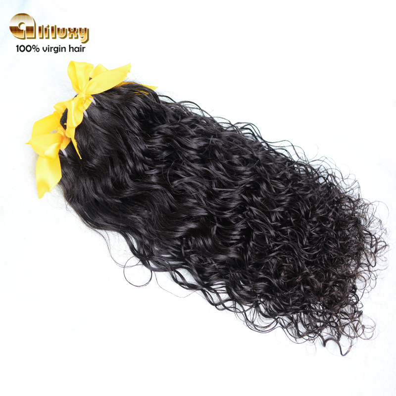 Luxy peruvian wet and wavy ,Virgin hair weave natural color  can be dyed 1PCS , water wave pattern keep wavyfrom Aliluxy Company(China (Mainland))