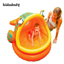 Buy Big fish inflatable swimming pool Baby tub ocean ball pool ball pool LMY918LL for $52.49 in AliExpress store