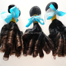 Unprocessed Aunty Funmi Hair Free Shipping To UK/Nigeria Romance Bouncy Curls 3Pcs Virgin Funmi Hair Extension