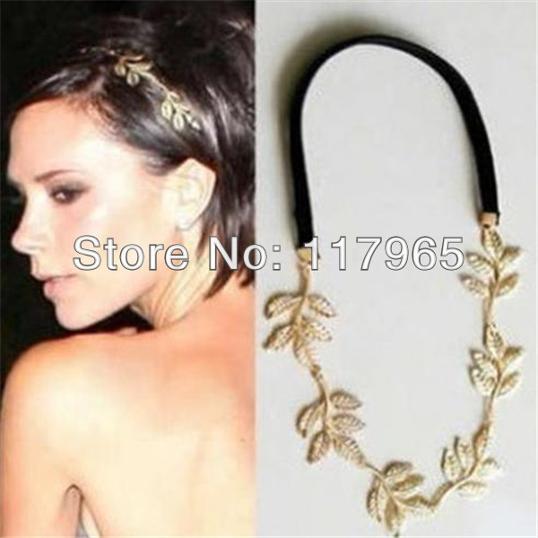 Min.order $10 (mix order)2015 hot fashion Chic Elegant Women Girls Retro Vintage Hollow Leaf Elastic Hair Band Headband ZYJ62 - xycharm store