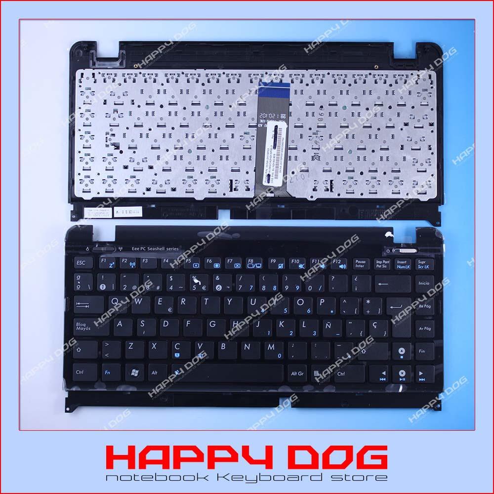 Brand New Spanish Black SP Laptop Keyboard Asus EPC 1215 1225 topcase 9J.N2K82.80S 0KNA-2H1SP03 - Happy Dog store