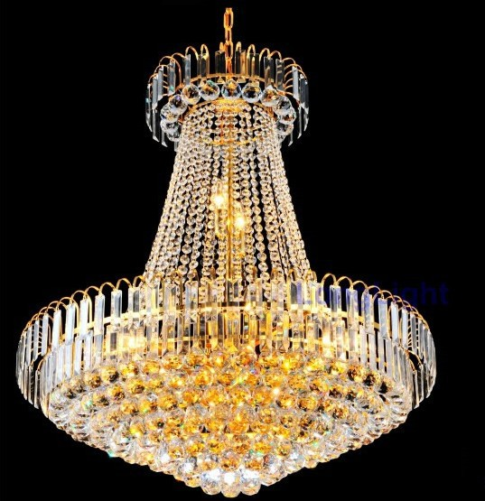 Gold modern Crystal chandelier light Upscale Royal Ceiling Lustre crystal Pendant Lamps - Shenzhen LongLight Optoelectronic Technology Co., Ltd. store