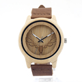 BOBO BIRD Pine wood watches Men with Hollow Out Deer Head japan miyota 2035 movement wristwatches