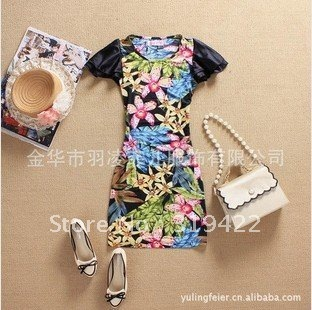 Yu Ling Fei children Wholesale 2013 new flower flavor is extremely self-cultivation ice silk dress L129