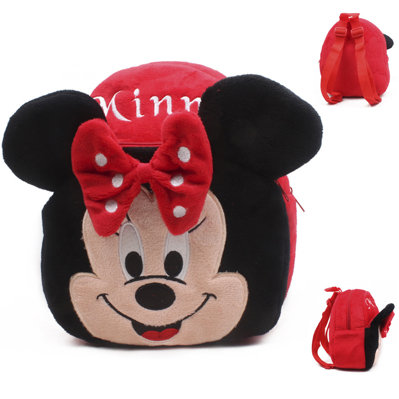 1-3 Years Old Mickey Mouse Backpack Boy And Girls' Shool Bags Kids Lovely Plush Backpack Mini Bags For Birthday Christmas Gift(China (Mainland))